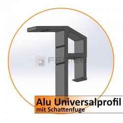 Alu-Universalprofil mit Schattenfuge - Preis / Lfm.