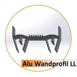 Alu Wandprofil LL-LED - 2,00 m / Preis / Lfm.