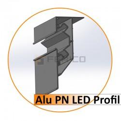 Alu PN LED Profil (Ohne Abdeckleiste) - geschnitten - 2,50 m. - Preis / Lfm.