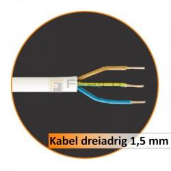 Kabel dreiadrig 1,5 mm (50 Lfm Packung)
