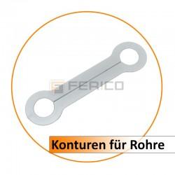 Konturen für Rohre 22 mm