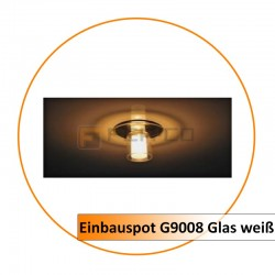Einbauspot G9008 Glas weiß