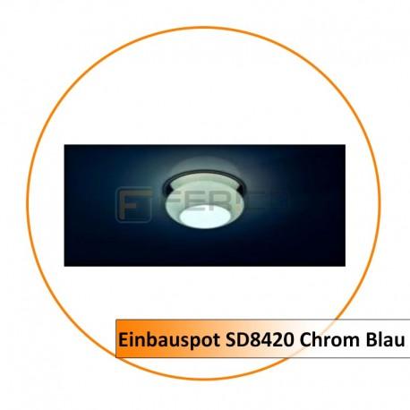 Einbauspot SD8420 Chrom Blau