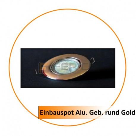 Einbauspot Alu. Geb. rund Gold
