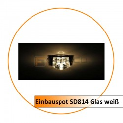 Einbauspot SD814 Glas weiß