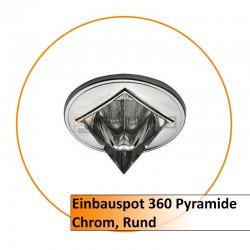 Einbauspot 360 Pyramide chrom rund