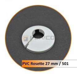 Rosetten PVC 27 mm 501