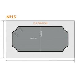 FK 15 - Ecken rund nach innen, breite Seiten - 6 x 3,5 m