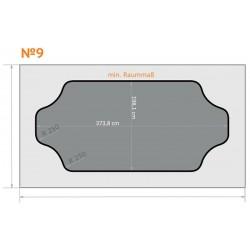 FK 9 - Ecken rund nach innen - 4 x 2,3 m