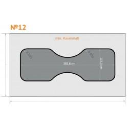 FK 12 - Ecken rund, Mitte rund nach innen (beide Seiten) - 4 x 2,3 m