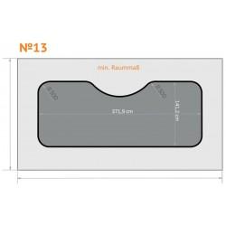 FK 13 - Ecken rund, Mitte oben rund nach innen - 4 x 2,3 m
