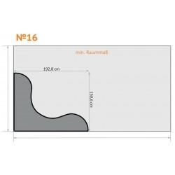 FK 16 - Für Ecken, Rund nach Innen, Ecken rund - 4 x 2,3 m