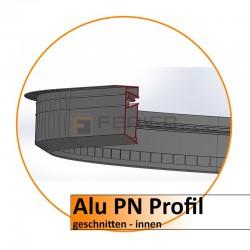 Alu PN Profil - gerundet - innen - Preis/stk.
