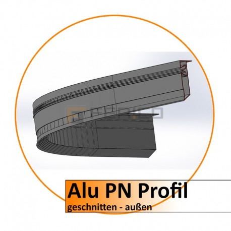 Alu PN Profil - gerundet - außen - Preis/stk.
