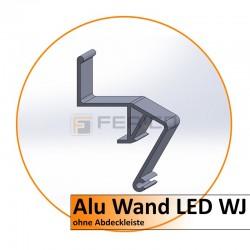 Alu Wand LED Profil WJ - ohne Abdeckleiste - 2,0 m - Preis/Lfm.