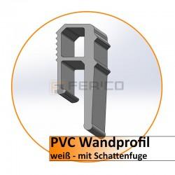 PVC Wandprofil 2m. - hell - mit Schattenf. - eigene Herstellung