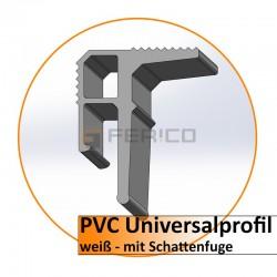 PVC Universalprofil 2m. - hell - mit Schattenf. - eigene Herstellung