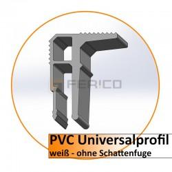 PVC Universalprofil 2m. - hell - ohne Schattenf. - eigene Herstellung