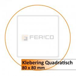 Klebering Quadratisch - 80 x 80 mm (LED)
