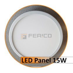 LED Panel - Rund - Warm weiß - 15W - verstellbar