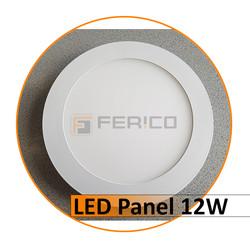 LED Panel - Rund - Warm weiß - 12W