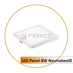 LED Panel - Eckig - Neutralweiß - verstellbare Lochgröße - 8W
