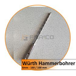 Würth - Hammerbohrer DUO-S, Vario - 6 mm - 160/100 mm