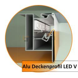 Alu Deckenprofil LED V-2,0 m - Preis / Lfm.