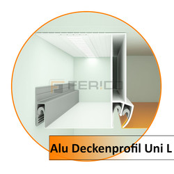 Alu Deckenprofil Uni L-2,0 m - Preis / Lfm.